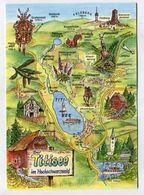 MAP - AK 314094 GERMANY - Der Titisee Im Hochschwarzwald - Landkarten