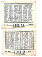 CALENDRIER - 1968 - CAFE TABAC SIMIER - METTRAY INDRE ET LOIRE - Small : 1961-70