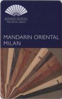 ITALIA   KEY HOTEL  Mandarin Oriental Milan - MILANO - Cartes D'hotel
