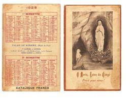 CALENDRIER RELIGIEUX - 1928  - PALAIS DU ROSAIRE LOURDES - Klein Formaat: 1921-40