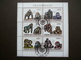Mammals - Monkeys. Affen. Singes. Gorillas # Comoros # 2009 Used S/s # Primates. Animals - Monkeys