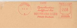 """Francotyp """"F"""" Bochum 09.03.1938 Sparkonten Eröffnet Dir Deutsche Bank Filiale - Deutschland"""