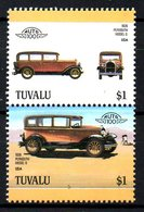 TUVALU. 2 Timbres. Voiture Plymouth De 1928. - Coches