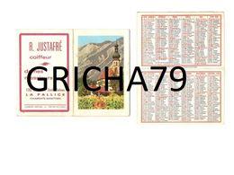 1966 - VILLAGE EN MONTAGNE ET EGLISE - COIFFEUR R JUSTAFRE LA PALLICE - Calendriers