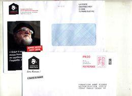 Pap Reponse Ciappa Fondation Abbe Pierre + Destineo - Postal Stamped Stationery