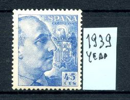 SPAGNA - Generale FRANCO - Year 1939 - Nuovo - New  -fraiche - Frisch - MNH **.. - 1931-Oggi: 2. Rep. - ... Juan Carlos I