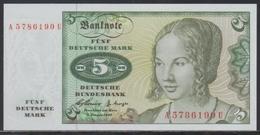 Deutschland 5 Mark 02.01.1960 UNC - [ 7] 1949-… : FRG - Fed. Rep. Of Germany