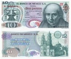 Mexico 10 Pesos 18-02-1977 Pick 63.i.2 UNC - México