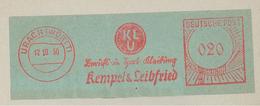 Urach Württemberg Kempel Leibfried Klu Berufskleidung Sportkleidung 12.10.1950 - BRD