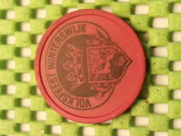 1 X Tokens Consumptiemunt .Volksfeest Winterswijk Fuchsia Kleurige Halve  - Netherlands - Netherland