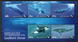 ROSS DEPENDENCY, 2010 WHALES MINISHEET MNH - Unused Stamps