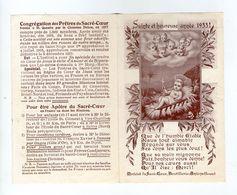 Sainte Et Heureuse Année 1933, Le Pain Des Novices Du Sacré Coeur, Enfant Jésus, Crèche, Anges, Boutillerie-Amiens - Images Religieuses