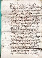 JEHAN DE CROIX...document .6 Pages In Folio Manuscrites Signées 1613. - Documents Historiques