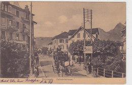 Brunnen - Bahnhofstrasse Mit Postkutsche - 1910       (P-105-50205) - SZ Schwyz
