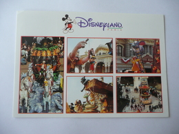 DISNEYLAND PARIS - PARADE - MULTIVUES - Carte Postale Voyagée En 1996 - Disneyland