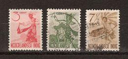 Nederlands Indie 334 335 336 Used ; Inheemse Dansen 1948 Netherlands Indies PER PIECE - Niederländisch-Indien