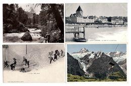 LOT  DE 44 CARTES  POSTALES  ANCIENNES  DIVERS  SUISSE  N21 - Postcards