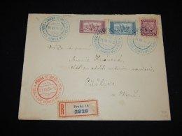 Czechoslovakia 1934 Praha 10 Registered Cover__(L-10442) - Cecoslovacchia