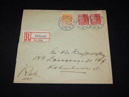 Denmark 1934 Hilleröd Registered Cover__(L-9086) - Brieven En Documenten