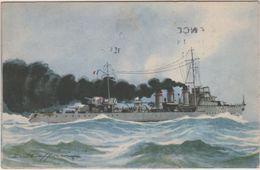 """Bateau   Guere , Illustrateur  """" Torpilla  """"  Siroco """" 1958 - Warships"""