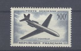 "TIMBRE - 1957-59 NEUF 500 F. Aériens Aviation Sud-Aviation ""Caravelle"" N°36 Cat. Yvert & Tellier 2012 - Côte 35 Euros - 1927-1959 Ungebraucht"