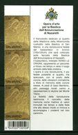 SAN MARINO - BASSORILIEVO BASILICA ANNUNCIAZIONE NAZARETH - BLOCCO FOGLIETTO - BF - NUOVO MNH - San Marino