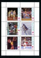 St Vincent Grenadines Olympics Seoul Running Gymnastics Biking Horse Weights Boxing 1988 MNH  Block Six  A04s - St.Vincent (1979-...)