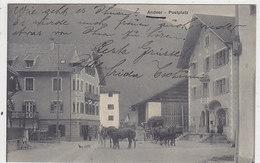 Andeer - Postplatz Mit Postkutsche - 1913       (P-105-50205) - GR Grisons