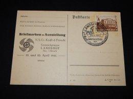 Germany 1941 Landshut Special Cancellation Card__(L-9729) - Deutschland