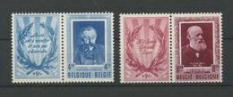 1952 Littérateurs Dyptiques 898/899 ** Mais Gomme Légèrement Altérée  Cote 320 E - Belgique