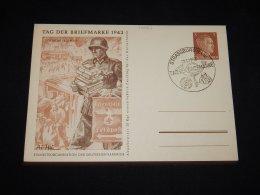 Germany 1942 Strassburg 3pf Brown Hittler Stationery Card__(L-10124) - Germany