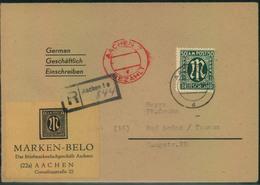 1946, Einschreiben Ab AACHEN Mit Teilbar-Frankatur - Bizone