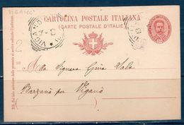 Italia / Italy  1900 Cartolina Postale Da CINISELLO PER VIGANO'  (COMO) - Marcophilia