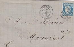LETTRE 1872 TOULOUSE - Marcophilie (Lettres)