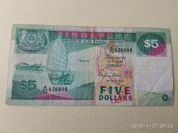 5 Dollars 1989 - Singapore