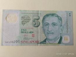 5 Dollars 2012 - Singapore