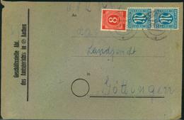 1946, Doppelbrief Mit AM-Post Und Ziffer Ab AACHEN - Bizone