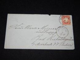 Germany Bayern 1876 Bayreuth Letter To Bad Reicholdsgrun__(L-9686) - Beieren
