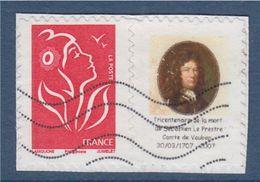 =Marianne Lamouche Adhésif 3802Bbb Grande Vignette Logo Tricentenaire De La Mort De Sébastien Le Prestre Comte De Vauban - Personnalisés