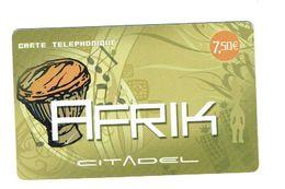 Télécartes / AFRIQ - CITADEL   Prépayée Internationale De 7.5 € / Occasion Souple/ N° GDAFRIK - 000058 - 0377/  Bon état - Télécartes