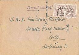 27265. Carta Impresos Drucksache CELLE (alemania Zona Anglo Americana) 1946 - Zona Anglo-Américan