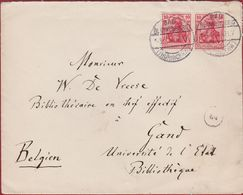 1914 10 Pf. Deutsches Reich Bad Blankenburg  Thuringen Belgien Gand Gent Universite De L'etat Universiteit - Lettres & Documents