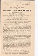 Schellebelle, Wanzele, 1947, Bernard Van Den Abeele, Herman - Images Religieuses