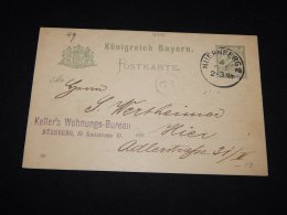 Germany Bayern 1900 Nuernberg 2pf Grey Stationery Card__(L-9455) - Bayern