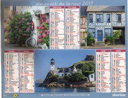 Almanach Du Facteur Oberthur - Paysages Bretagne Normandie - Paris IDF 2017 - Groot Formaat: 2001-...