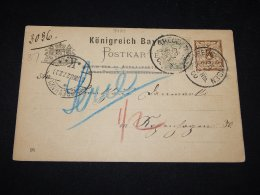 Germany Bayern 1900 Treuchtlingen 3pf Brown Stationery Card__(L-9439) - Bavaria