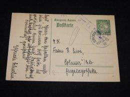 Germany Bayern 1917 7,5 Green Censored Stationery Card__(L-9354) - Bavaria