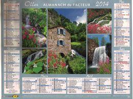Almanach Du Facteur Oller - Cascades - Paris IDF 2014 - Groot Formaat: 2001-...