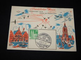 Germany Bizone 1938 Frankfurt Messe Card__(L-9736) - Amerikaanse-en Britse Zone