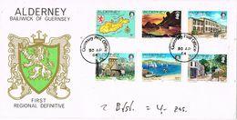 27269. Carta F.D.C. ALDERNEY (Guernsey Post Office) 1984. Regional Post - Alderney